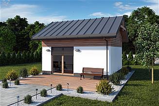 Projekt kuchni letniej KL16 szkielet drewniany kuchnia letnia/bud. gospodarczy