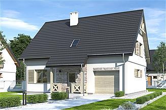 Projekt domu Iga styl z garażem 1-st. [A]