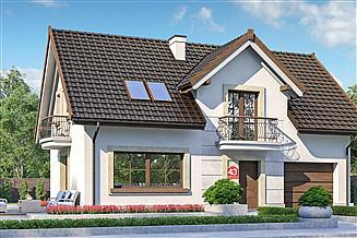 Projekt domu Dom przy Alabastrowej 43