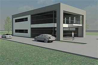 Projekt budynku usługowego at-163