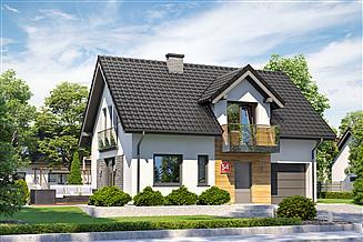Projekt domu Dom przy Alabastrowej 54