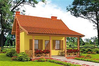 Projekt domu Bari C szkielet drewniany, dom mieszkalny, całoroczny
