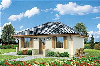 Projekt domu Bayamo C szkielet drewniany, dom mieszkalny, całoroczny