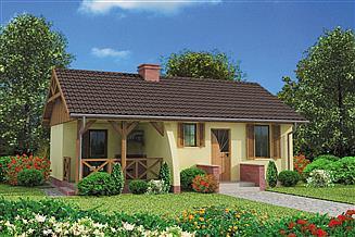 Projekt domu Arosa C szkielet drewniany, dom mieszkalny, całoroczny