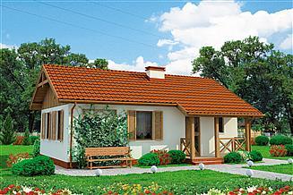 Projekt domu La Palma C szkielet drewniany, dom mieszkalny, całoroczny