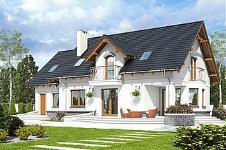 Projekt domu Dom Dla Ciebie 7 z garażem 1-st. [A]