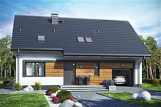 Projekt domu Jaskółka 5 z garażem XL