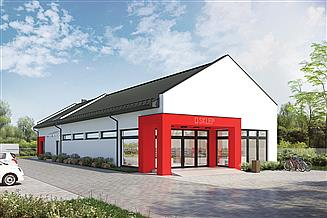 Projekt budynku usługowego Murator UC72 Budynek usługowy