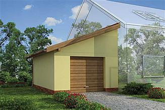 Projekt garażu GP1 budynek gospodarczy dostawiany