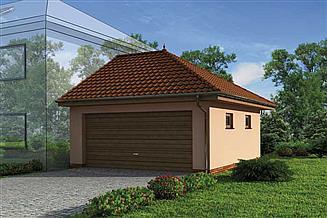 Projekt garażu GP8 projekt budynku gospodarczego dostawianego
