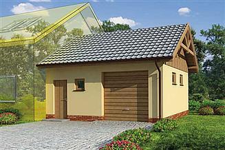 Projekt budynku gospodarczego GP7 projekt budynku gospodarczego dostawianego
