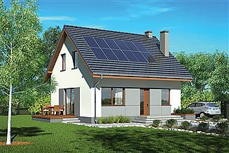 Projekt domu Murator M251a W sam raz - wariant I (etap I)