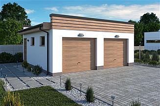 Projekt garażu G344 garaż dwustanowiskowy do postawienia w granicy narożnikowo