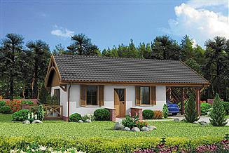 Projekt domu Awinion C dom mieszkalny, całoroczny szkielet drewniany