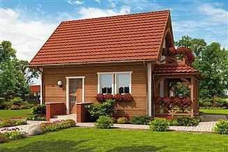Projekt domu Orlean 2 C dom mieszkalny, całoroczny szkielet drewniany
