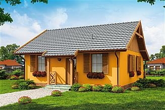 Projekt domu Barbados C dom mieszkalny, całoroczny szkielet drewniany