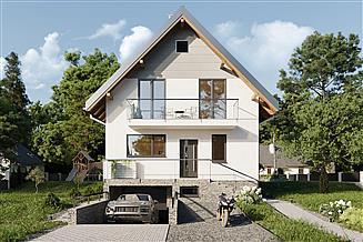 Projekt domu Biedronka - murowana – beton komórkowy