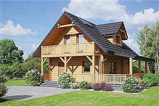 Projekt domu Gajówko dw