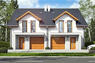 Projekt domu Jukka z garażem 1-st. bliźniak [A1-BL]