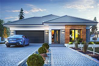 Projekt domu Galena z garażem 2-st. [A]