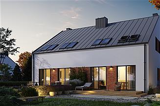 Projekt domu Eco 17 dwulokalowy