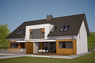 Projekt domu Wiktor G1 (bliźniak) energo