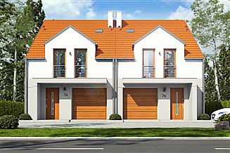 Projekt domu Jukka z garażem 1-st. bliźniak [A-BL]