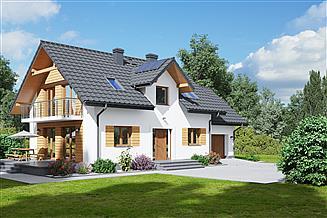 Projekt domu Żarowo 1mg