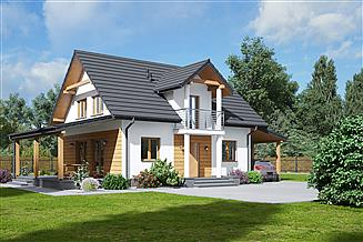 Projekt domu Paczkowice 1m