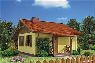 Projekt domu Bazylea C dom mieszkalny, całoroczny szkielet drewniany