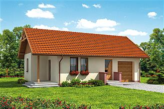 Projekt domu Bergamo C dom mieszkalny, całoroczny