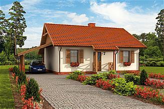 Projekt domu Barbados 2 C dom mieszkalny, całoroczny szkielet drewniany