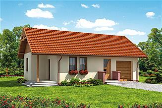 Projekt domu Bergamo C dom mieszkalny, całoroczny szkielet drewniany