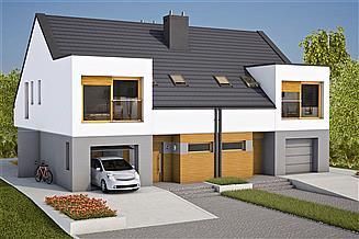 Projekt domu Lukas G1 (bliźniak)