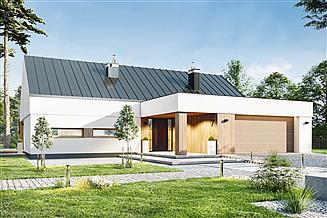 Projekt domu Magnetyt z garażem 2-st. [A]