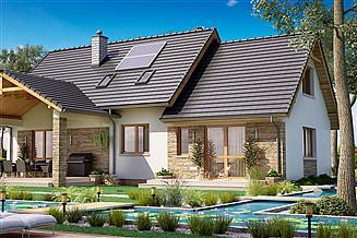 Projekt domu BS-07 wariant 2 dwulokalowy