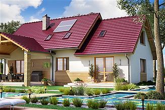 Projekt domu BS-07 wariant 3 dwulokalowy