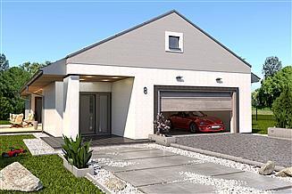 Projekt domu Słonecznik 1 - dach dwuspadowy