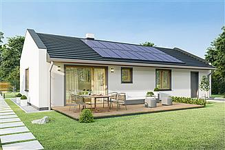 Projekt domu Solaris 2 - z garażem