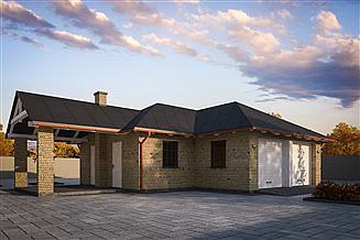 Projekt garażu G361 - Budynek garażowo - gospodarczy