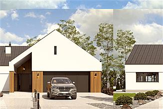 Projekt domu Magnetyt II z garażem 2-st. [A]