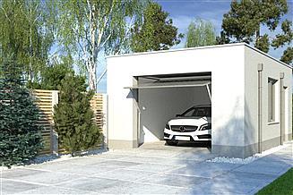 Projekt garażu APG 10A garaż