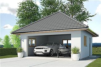 Projekt garażu APG 7C garaż