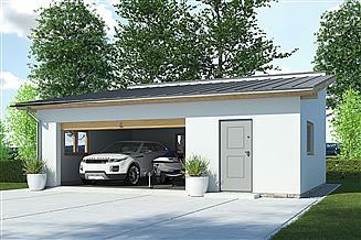 Projekt garażu APG 2D garaż