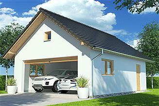 Projekt garażu APG 4B garaż
