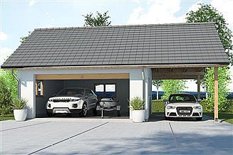 Projekt garażu APG 6A garaż