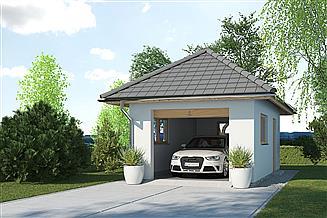 Projekt garażu APG 3A garaż