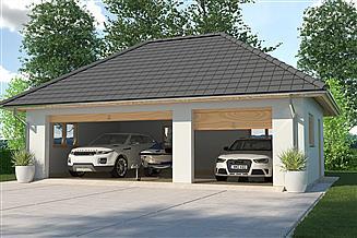 Projekt garażu APG 7B garaż