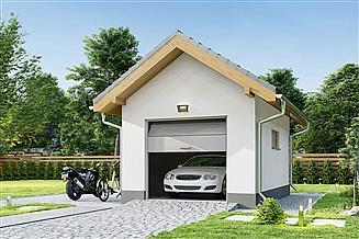 Projekt garażu Garaż G1A