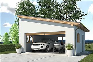 Projekt garażu APG 2A garaż